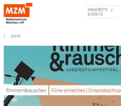 Screenshot der Website Medienzentrum München
