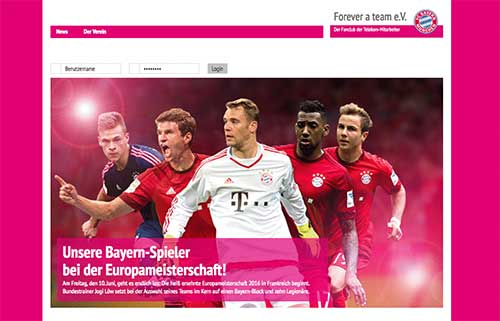 Screenshot der Website Forever a team e.V.